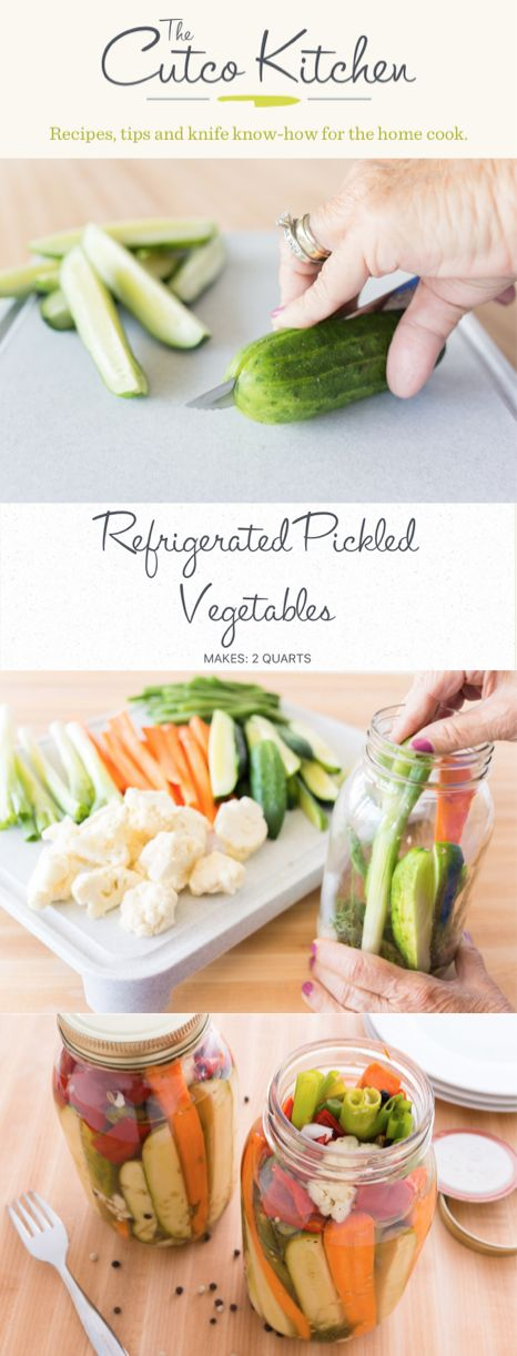 Pickled Vegetables DIY I Use this recipe to store your vegetables in your refrigerator for the next couple of months I Cutco Kitchen
