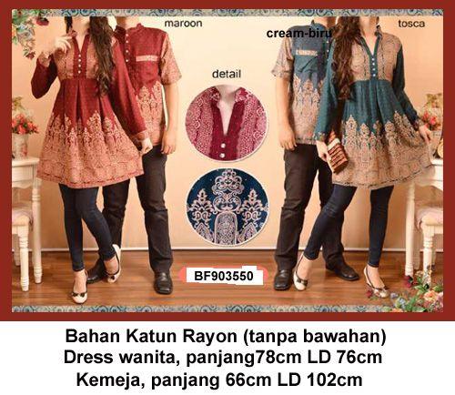 Atasan gamis couple batik·Bajugamismu.com·