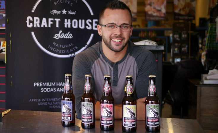 The People's Craft House in Penticton and some of the products in the company's line of artisinal sodas.