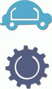 Silhouette Design Store - View Design #67226: 2 bookmarks - car gear