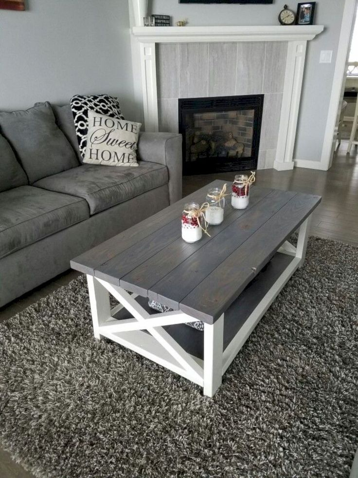 Best 46 Fantastic Coffee Table Decor Ideas With Rustic Style 400 x 300