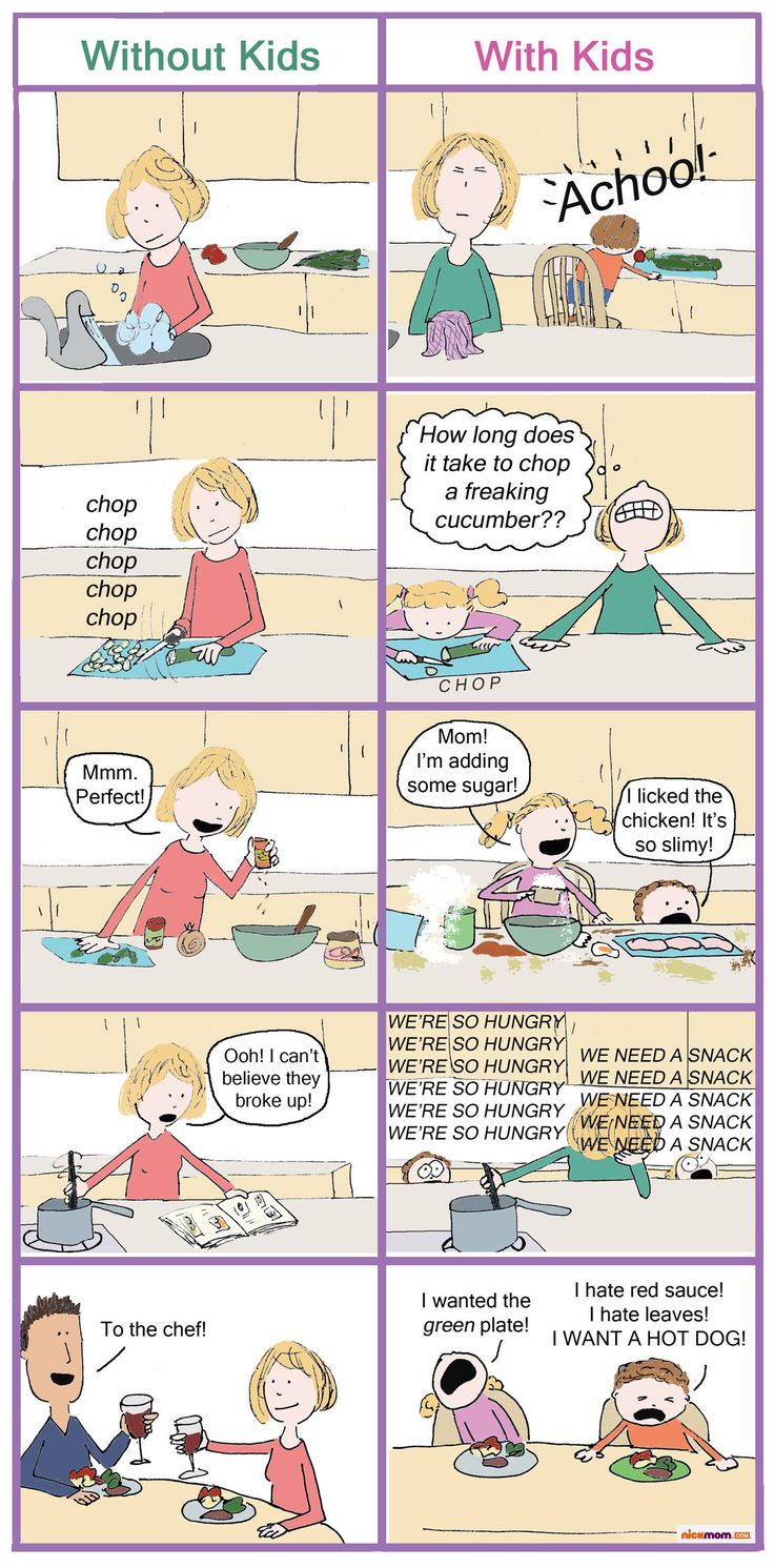 What It's Like to Cook Dinner Without Your Kids Vs. With Your Kids | More LOLs & Funny Stuff for Moms | NickMom