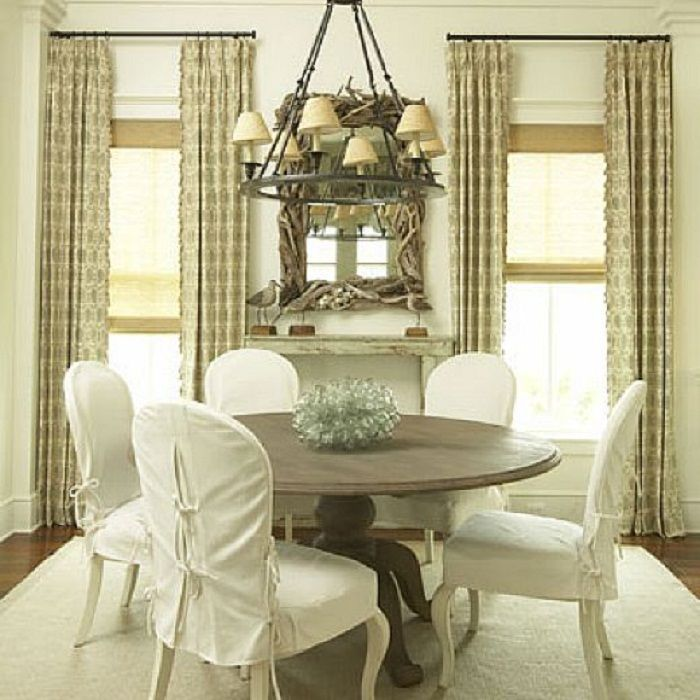 17 best images about elegant dining chair slipcover on for 4 dining room chair covers