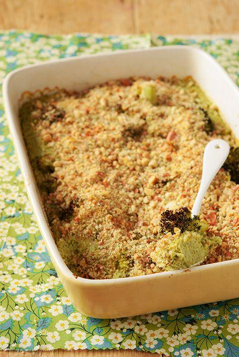gratin brocoli cacahuetes