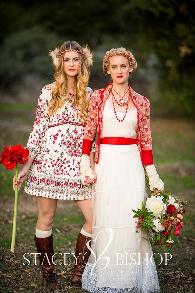 A Swedish Christmas inspired wedding...via Stacey Bishop photography   Small dress for Elsa (or any other bridesmaid lady that are added