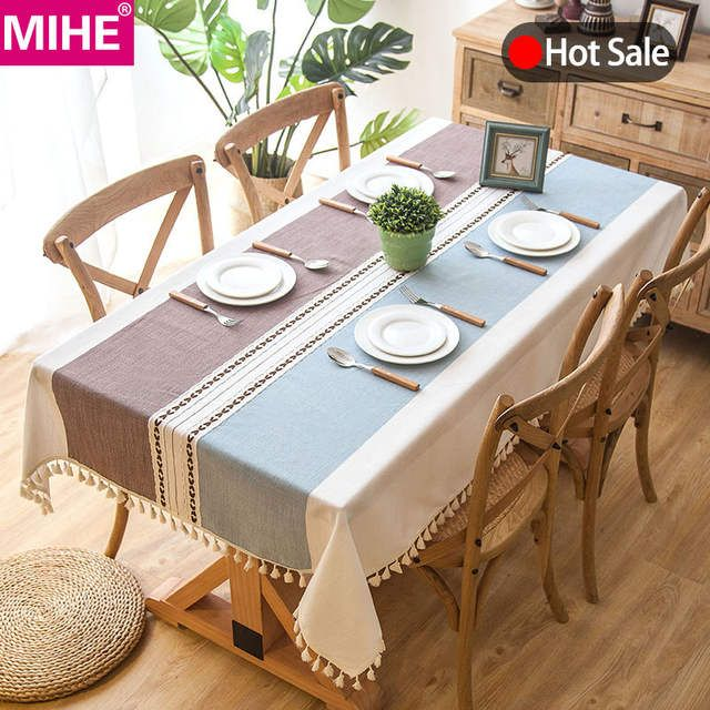 Online Shop Modern Decorative Table Cloth Tassel Iace Rectangle Tablecloth Home Kitchen Table Cloths Party Banquet Dining Table Cloth Table Cloth Dining Table