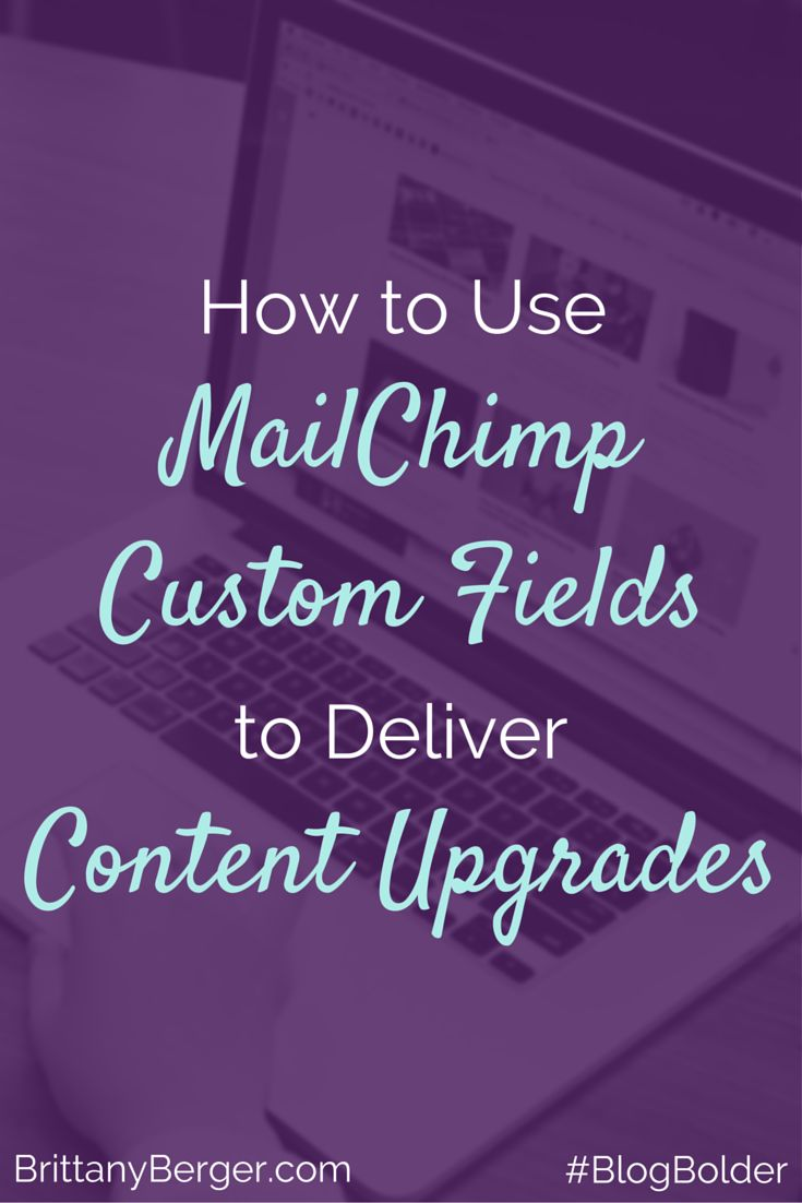 How to Use MailChimp Custom Fields to Deliver Content Upgrades - You don't need fancy email software to grow your email list. Download a free video tutorial on how to deliver content upgrades with MailChimp's custom fields.