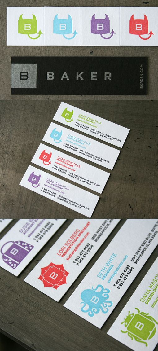 17 best creative solutions business cards images on pinterest printing these cards for design company baker was quite an undertaking for specialist letterpress printers studio reheart Images