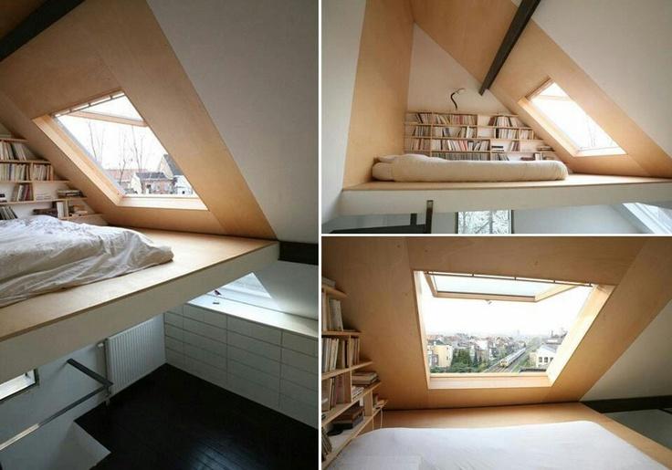 17 beste afbeeldingen over zolderkamer op pinterest toverstokken zolder slaapkamers en - Bed kamer mezzanine ...