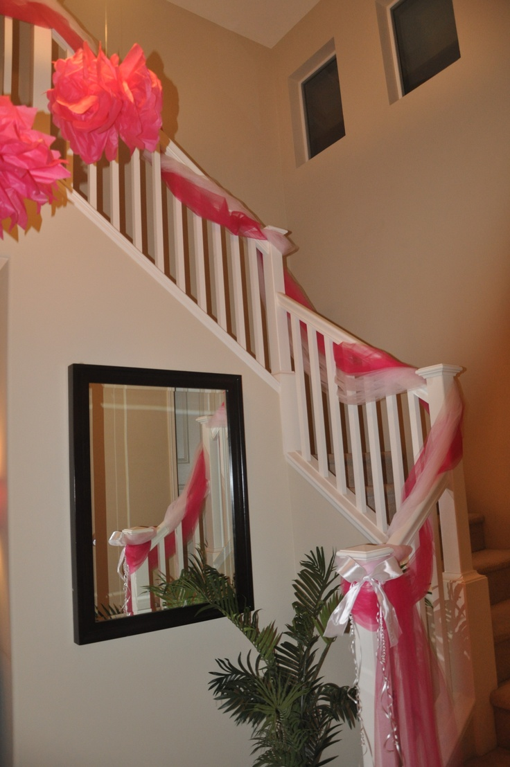 Tulle Decorated Staircase Stephanie Crowley Uh Oh Lol