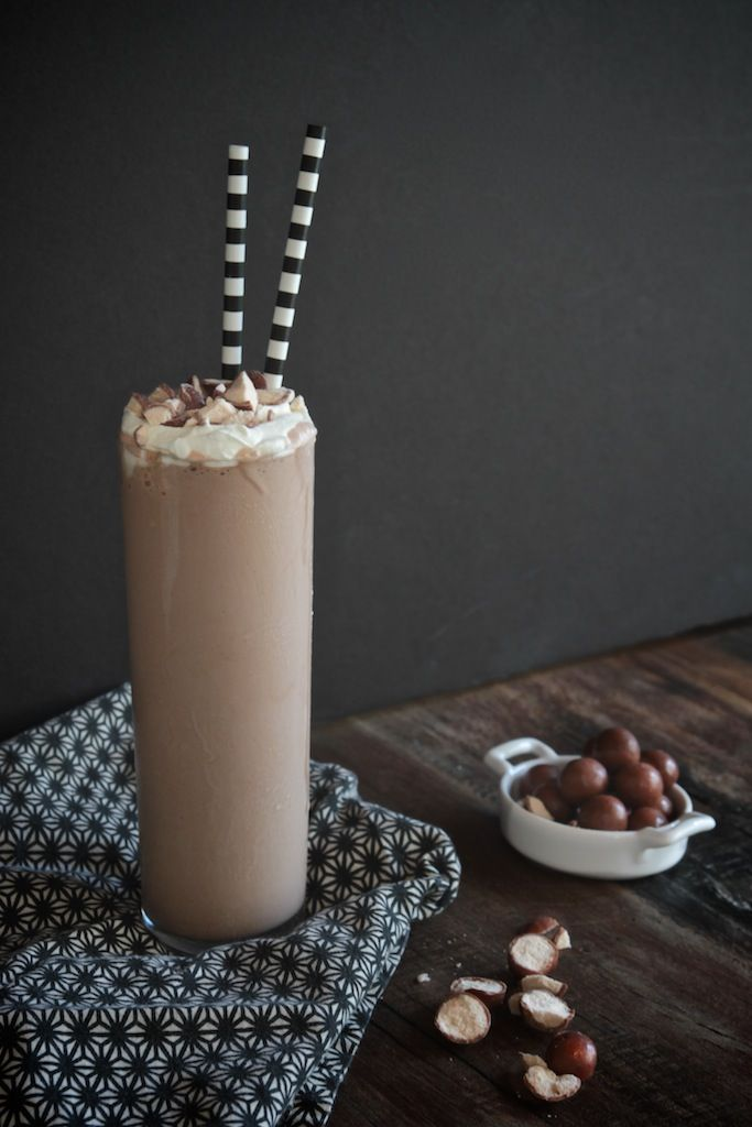 Bittersweet Chocolate Malted Milkshake