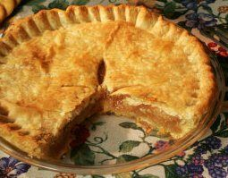 Mock Apple Pie - by the Kraft people--made with Ritz crackers-- a vintage recipe from 1930s has remained popular throughout the decades.  For flavoring, the only thing I would change would be to add a drizzle of apple juice from a real apple.