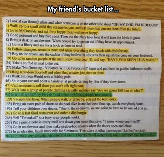 Best bucket list EVER -