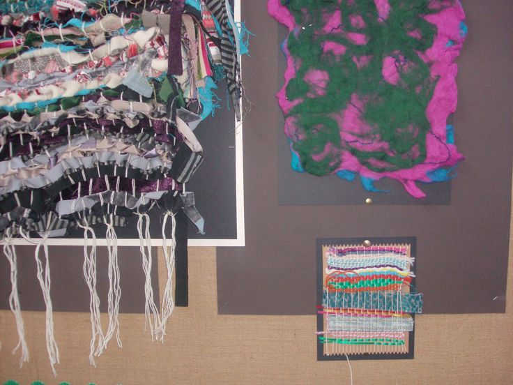 Primary school weaving and felting workshop day
