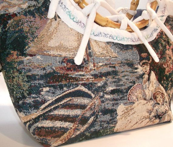 Nautical Handbag  Nautical Purse   Victorian Bag  by ClassA, $80.75