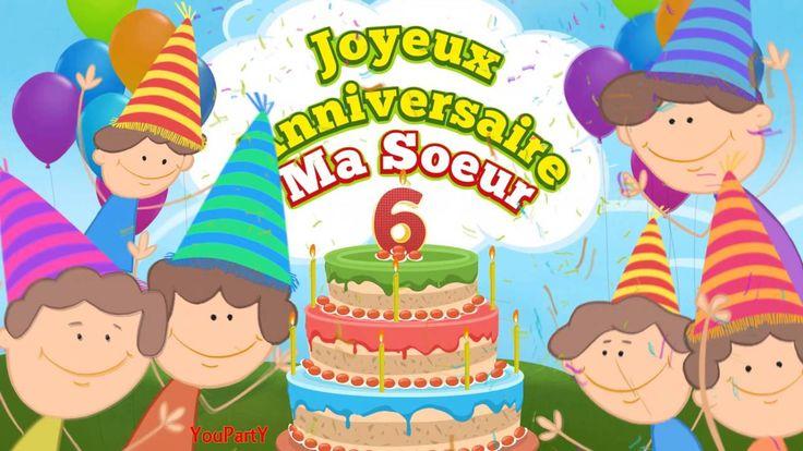 Joyeux anniversaire ma soeur 6 ans (de la part d'une sœur)