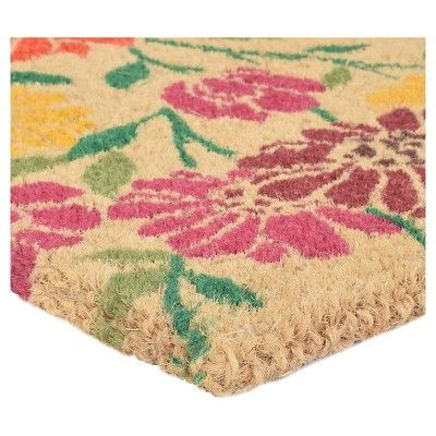 "HomeTrax Coir Mat Doormat - Spring Daisies (18"" x 30""),"
