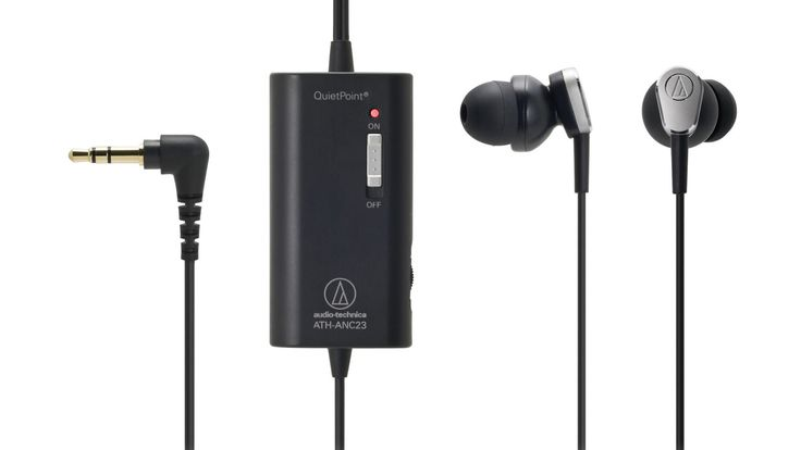 Audio-Technica ATH-ANC23 QuietPoint Active Noise-Cancelling In-Ear Headphones - BestProducts.com