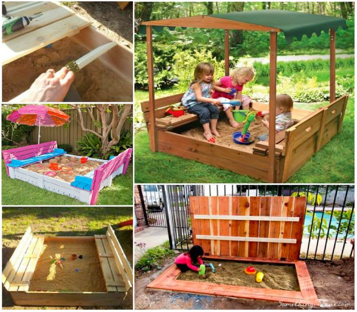 Covered Sandpit. Awesome for kids.