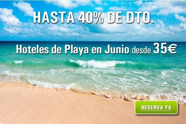 Hoteles de Playa en Junio desde 35€ la noche. ¡Hasta un 40% de descuento! #vacaciones http://www.rumbo.es/hoteles/promo/ultima-hora/ofertas-hoteles-playa