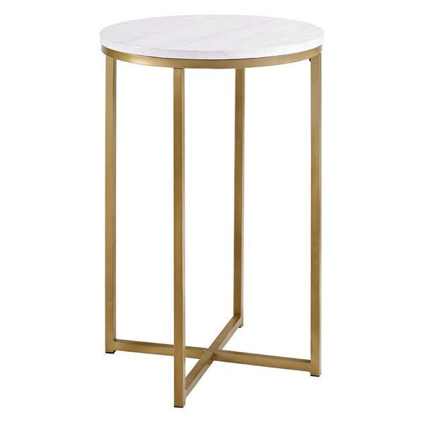 Round Side Table Houzz 82 99 Domino Com Marble Side