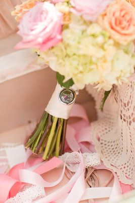 bouquet, bride, pink, green, origami owl, charm.