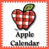 FREE Apple Calendar Set Pattern Set, Regular Set and Single Page Calendar - 3Dinosaurs.com