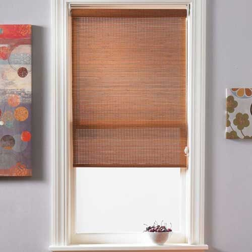 Bamboo Roller Shades Will Add Texture To Living Room