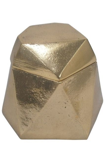 A gem of a storage box. Nate Berkus Gold Gem Decorative Box, $11.90, available at Target. #refinery29 http://www.refinery29.com/target-home-decor#slide-6