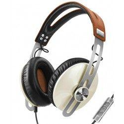 SENNHEISER Momentum Ivory– Słuchawki designerskie harakteryzuje się minimalistycznym desingem i precyzyjną konstrukcją. Bogate i szczegółowe brzmienie jest zapewnione dzięki wydajnym przetwornikom otoczonym miękkimi nausznikami, które chronią przed hałasem otoczenia.The right pair of headphones can make an appreciable difference in how much you enjoy your music.  a nice pair will encourage you to close your eyes and lose yourself in the music
