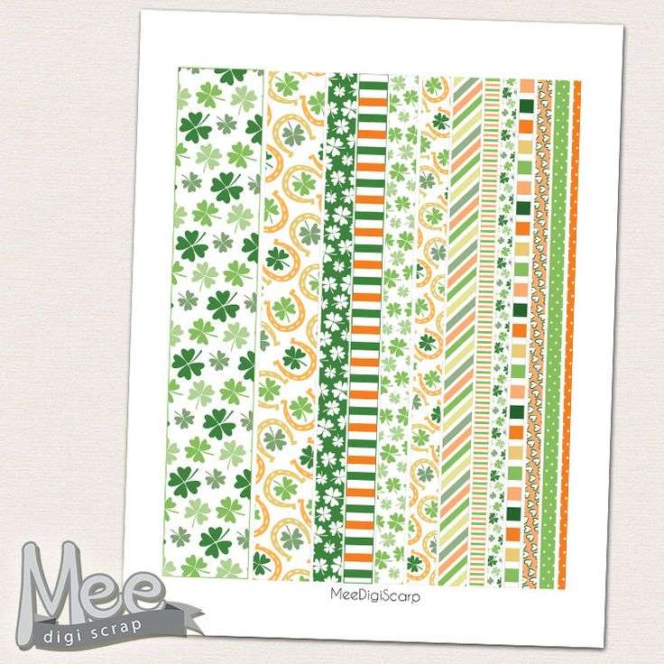 St. Patricks day printable washi tape,March washi stripes ...