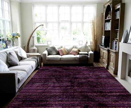 Shag Rugs Saverii Dark Purple