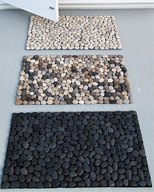 How to: DIY pebble bath mats. Curbly