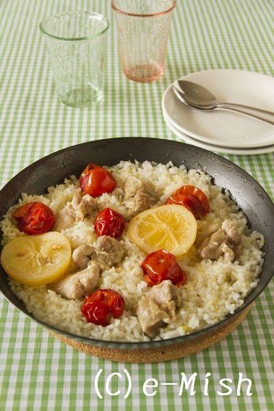 鶏肉とミニトマトの塩レモンピラフ by 柴田真希   レシピサイト「Nadia ...