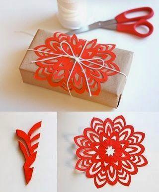 Dulce Fiesta Decoración: Copos de nieve de papel