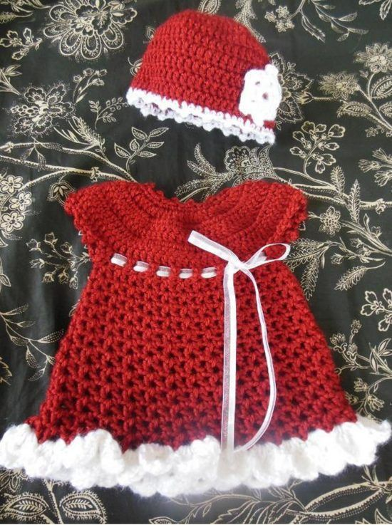 Crochet Baby Santa Dress Pattern Is The Cutest Ever | The WHOot