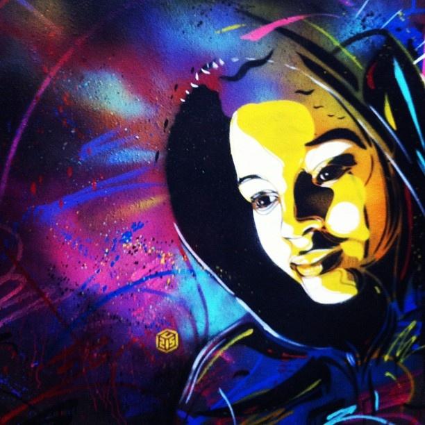 Smile #c215 #stencil #paris - @bookgirl- #webstagram: Smile C215, C215 Stencil, Stencil Paris