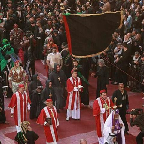 Day of Ashura 2016 - Christian people in the holy shrine of Imam Husayn