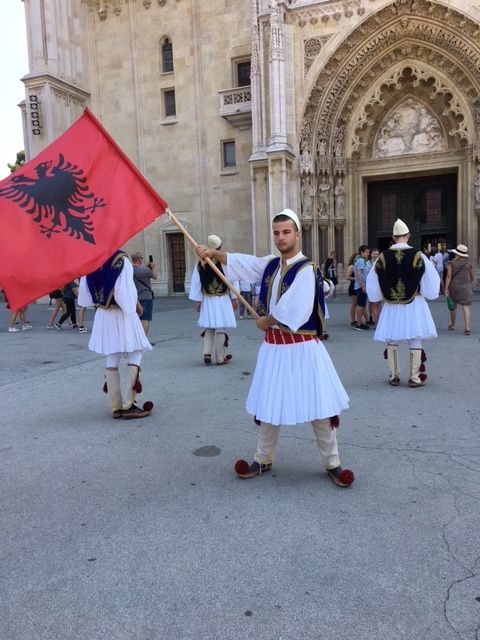 We saw these young men dressed in traditional #Croatian costumes in front of the #Zagreb Cathedral. You can read more about it when you click through.