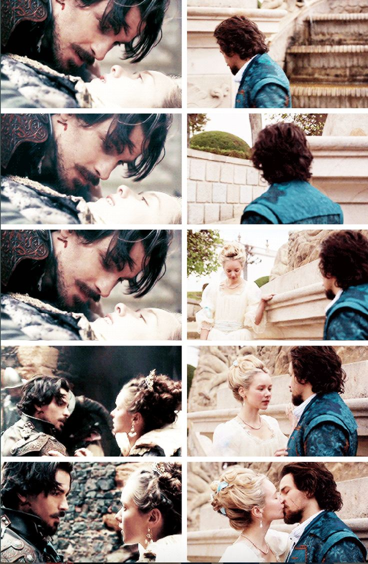 Aramis and Anne   The first and last time we see them   BBC Musketeers   Season 1 v.s. Season 3