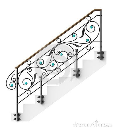 Wrought iron stairs railing by Egorovajulia, via Dreamstime