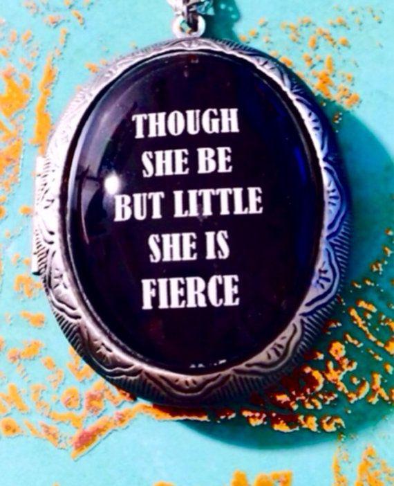 Large Locket Shakespeare Quote Large Locket  by Sealedwithsuccess