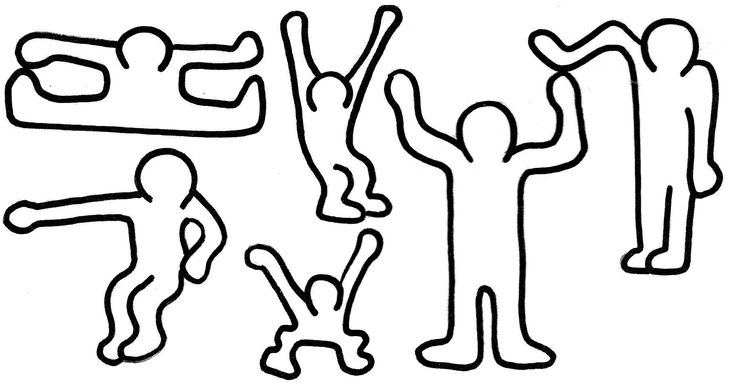 Keith haring colouring pages mid school art pinterest for Keith haring figure templates