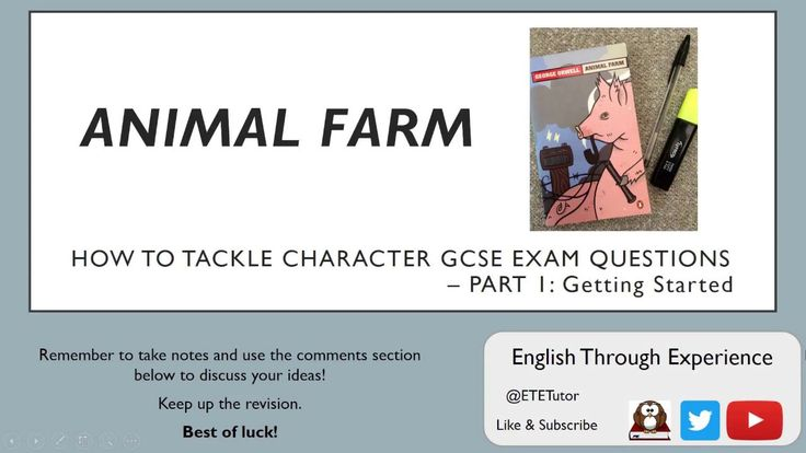 Animal Farm - How to tackle Character GCSE Exam Questions Part 1: Getting Started - YouTube