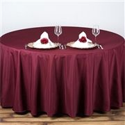 "Burgundy 90"" Round Tablecloth"
