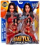 "The Bella Twins Battle Pack Manufacturer: Mattel Toys Series: WWE Wrestling Double Packs Series 26 Release Date: January 2014 For ages: 4 and up UPC: "">746775344085  Details (Description): Bring home the action of WWE! Re-create your favourite matches with these 7-inch figures created in Superstar scale. All action figures offer extreme articulation, amazing accuracy and authentic details."