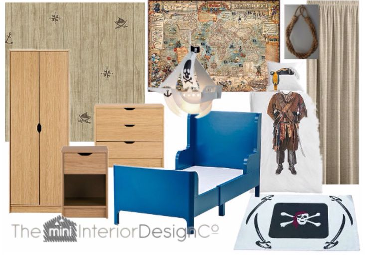 Boys Pirate Bedroom. Authentic-look pirate themed kids room for a budget of just £600! #kidsroom #pirateroom #boysbedroomideas #kidsinteriors #kidsinteriordesign #kidspirateroom #childrensroomideas #childrensinteriors #kidsdecor #childrensdecor #piratesofthecaribbean #interiors #interiordesign #roomideas #affordableinteriordesign #affordablekidsroom #budgetinteriordesign #budgetkidsroom