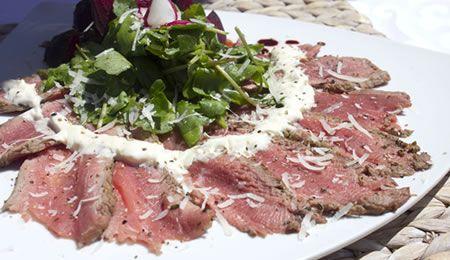 Seared Beef Carpaccio Salad