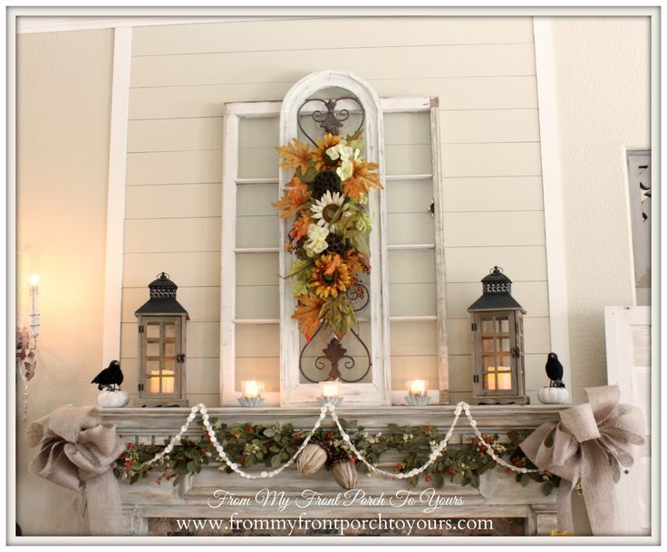 French Country Christmas Decorating Ideas: 74 Best Mantel Decorating Images On Pinterest