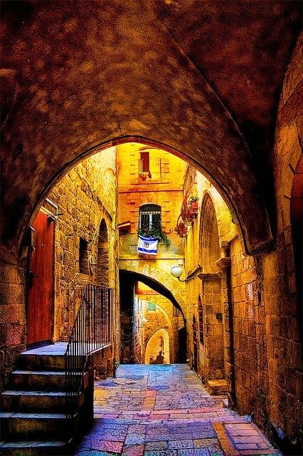 Even what is old…becomes fresh and bright as it is illumined with light.   Old city at Jerusalem
